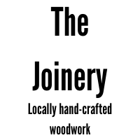 Text: The Joinery Locally hand-crafted woodwork