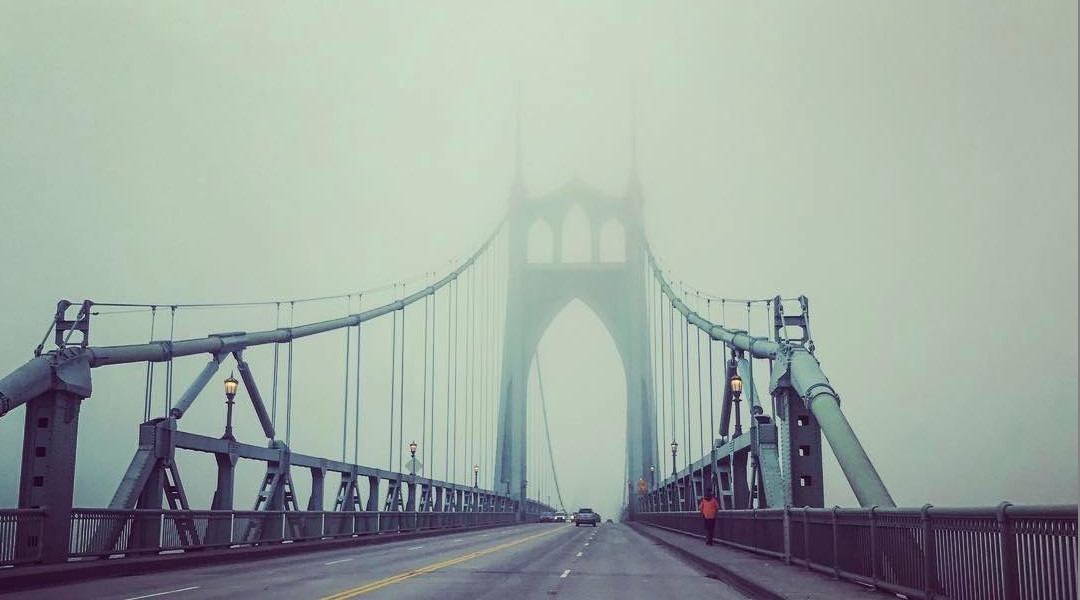 St Johns Bridge in Fog